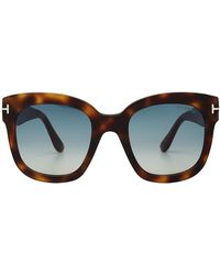 Tom Ford - Tortoiseshell Print Sunglasses - Lyst