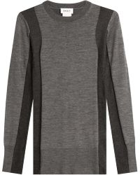 DKNY - Two-tone Pullover With Merino Wool - Lyst