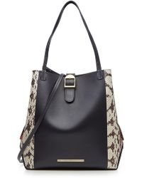 Roland Mouret - Leather And Snakeskin Tote - Lyst