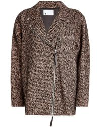 T By Alexander Wang - Jacket With Wool And Silk - Lyst