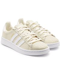 best service 938e0 e1345 Hot adidas Originals - Campus Leather Trainers - Lyst