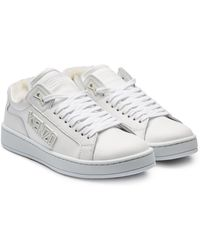 KENZO Tennix Leather Sneakers With Shearling Insole