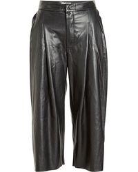 Natasha Zinko - Cropped Leather Trousers - Lyst