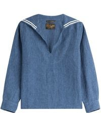The Seafarer - Linen Blouse - Lyst