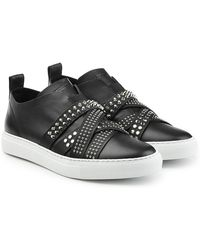 DSquared² - Leather Trainers With Studded Straps - Lyst