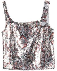 8955f16463a117 Lyst - Paco Rabanne Sequin Tank Top in Metallic