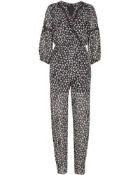 Anna Sui - Printed Silk Chiffon Jumpsuit - Lyst