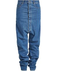 Y. Project | Draped Jeans With Dropped Crotch | Lyst