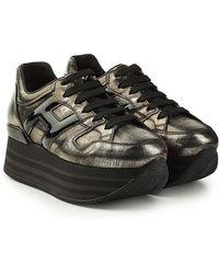 Hogan - Plateau-Sneakers aus Leder - Lyst