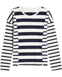 Closed - Patchwork Striped Cotton Top - Lyst