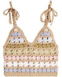 She Made Me - Maala Crochet Knit Top - Lyst