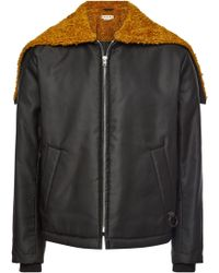 Marni - Jacket With Faux Shearling - Lyst