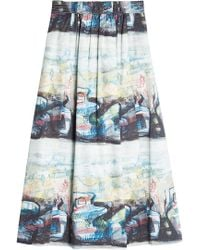 Burberry - Kinsale Printed Cotton Skirt - Lyst