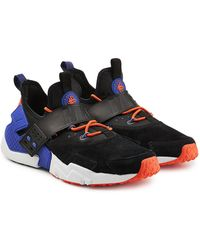 97027b608933 Nike Air Huarache Run Sneakers With Leather And Suede in Black for ...