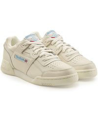 Reebok - Workout Plus Leather Trainers - Lyst