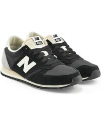 New Balance - Suede And Mesh Trainers - Lyst