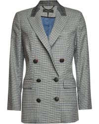 Rag & Bone - Ellie Checked Blazer With Wool - Lyst