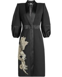 Alexander McQueen - Embellished Coat With Wool And Silk - Lyst