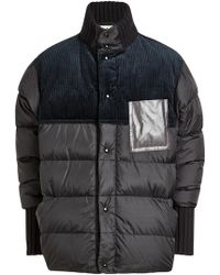 Marni - Quilted Jacket With Down Filling And Corduroy - Lyst