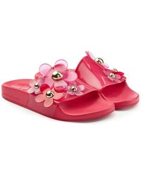 Marc Jacobs - Rubber Slides With Flowers - Lyst