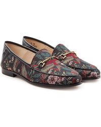 Sam Edelman - Printed Fabric Loafers With Leather - Lyst