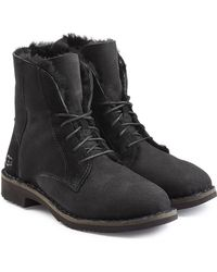 UGG - Suede Lace-up Boots With Searling Lining - Lyst