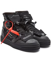 Off-White c/o Virgil Abloh Off Court Sneakers With Leather