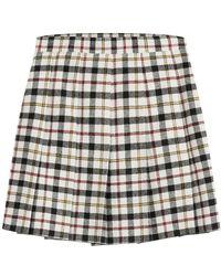 M Missoni - Checked Wool Skirt - Lyst