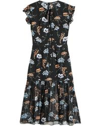 Markus Lupfer - Printed Silk Dress - Lyst