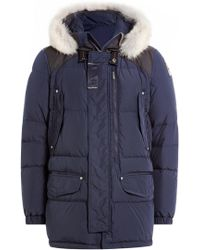 Parajumpers - Down Jacket With Fur-trimmed Hood - Lyst
