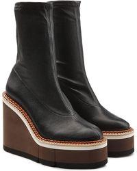 Robert Clergerie - Britt Leather Platform Boots - Lyst