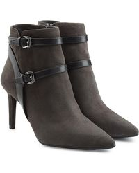 MICHAEL Michael Kors - Suede Ankle Boots With Leather Straps - Lyst