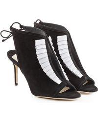 Olgana Paris - La Indispensable 7 Suede And Leather Pumps - Lyst
