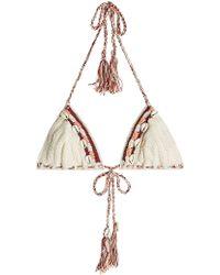 Anna Kosturova - Embellished Crochet Bikini Top - Lyst