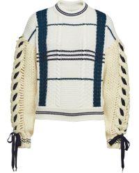Carven - Virgin Wool Pullover With Alpaca - Lyst