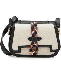Carven - Mazarine Saddle Shoulder Bag With Leather - Lyst