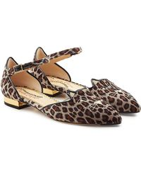 Charlotte Olympia | Mid Century Kitty D'orsay Velvet Sandals | Lyst