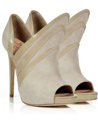 Alejandro Ingelmo - Sand Suede Triple Layered Booties - Lyst