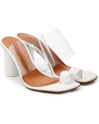 Neous - Chost Transparent Sandals With Leather - Lyst
