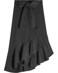 Saloni - Cotton Skirt With Ruffles And Bow - Lyst