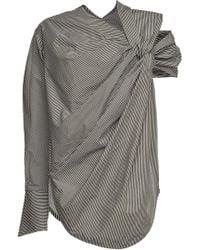 Silvia Tcherassi - Brina Striped Asymmetric Cotton Blouse - Lyst