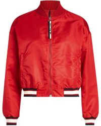 Moncler - Cropped Bomber Jacket - Lyst