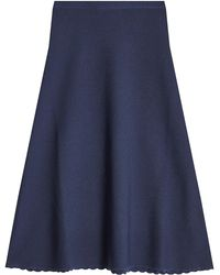 Victoria Beckham - Knitted Wool Skirt - Lyst