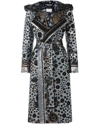Peter Pilotto - Brocade Lamé Hooded Coat - Lyst