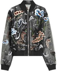 Markus Lupfer - Underwater Embroidered And Embellished Chiffon Jacket - Lyst