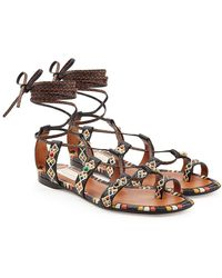 Valentino - Rolling Rockstud Embellished Leather Sandals - Lyst