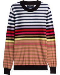 Sonia Rykiel - Silk-cotton Striped Pullover - Lyst