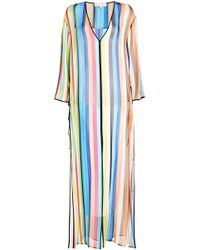 Diane von Furstenberg - Striped Silk Tunic - Lyst