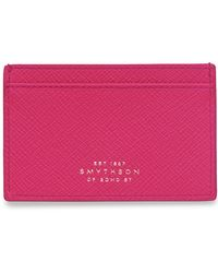 Smythson - Leather Card Holder - Lyst