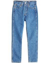 RE/DONE - Double Needle Cropped Jeans - Lyst